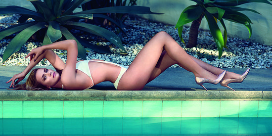 Shantel VanSanten Lounges Poolside In A Cutout Swimsuit For Maxim