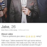 Jake Chapman Asks Ex-Girlfriends to Write Tinder Reviews