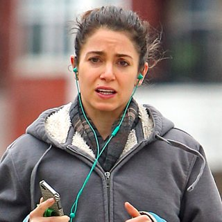 Nikki Reed Shows Engagement Ring While Running