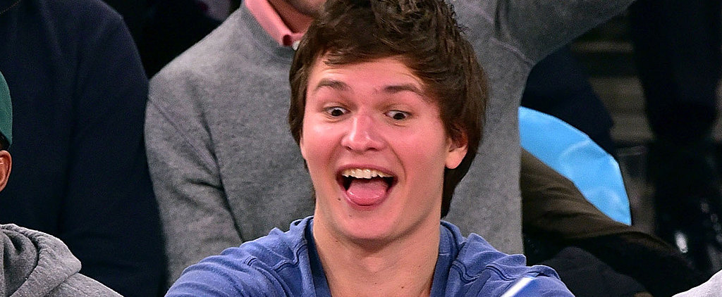 10 Ridiculously Funny Things Ansel Elgort Did at the Knicks Game