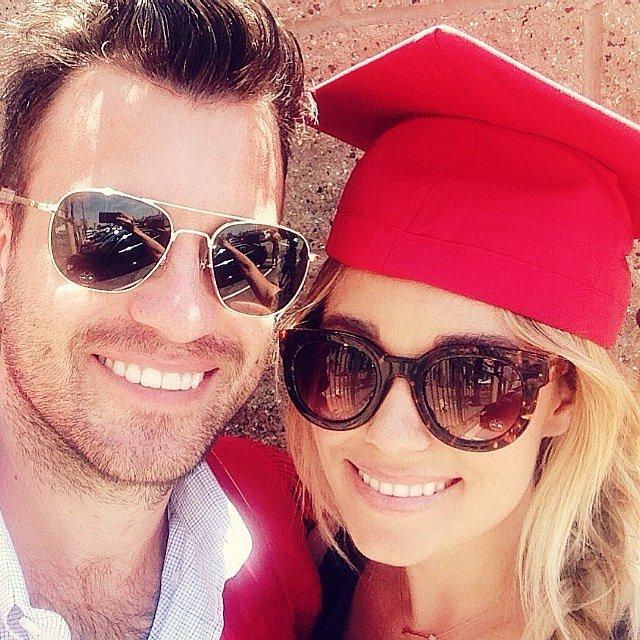 She celebrated William's graduation day.