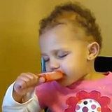 Video of Baby Falling Asleep Eating Popsicle