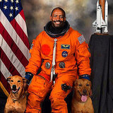 An Astronaut Creates His Official NASA Portrait -- With His 2 Dogs