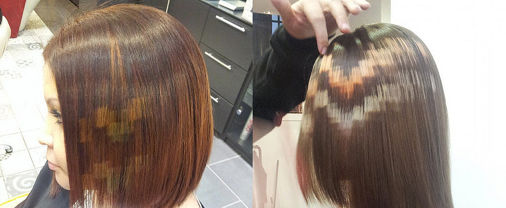 Pixelated Highlights Are the Newest Tech-Inspired Hair Trend