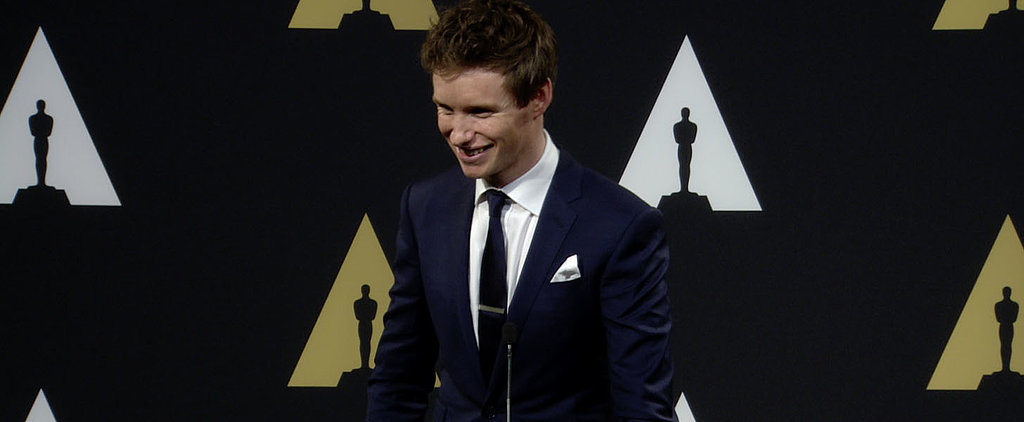 Eddie Redmayne's Impression of an American TSA Agent Has to Be Seen