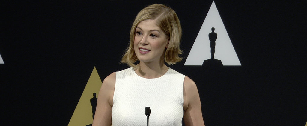 Gone Girl's Rosamund Pike Is Adorably Overwhelmed by Award Season