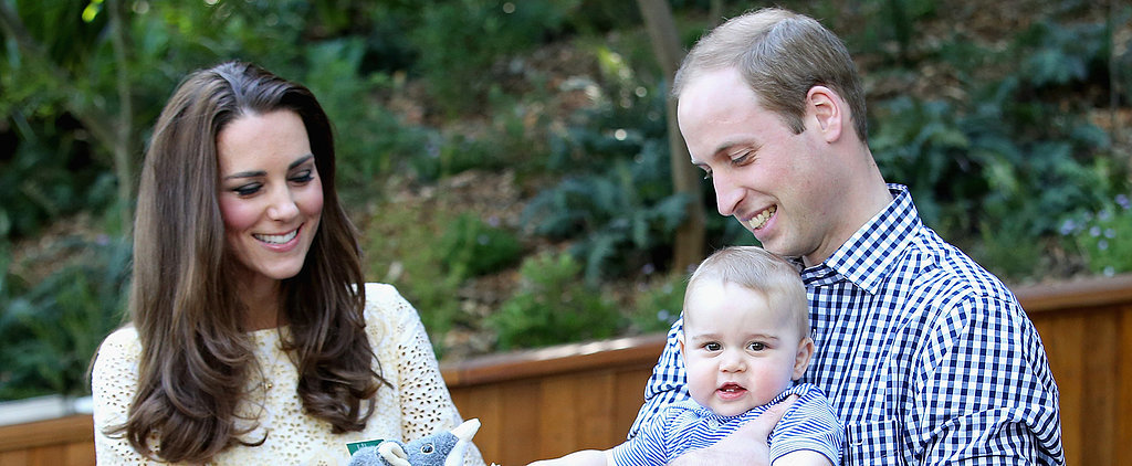 Prince George Learns to Swim With Some Help From His Parents