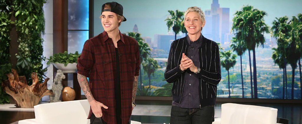 Justin Bieber Explains His Apology Video, Then Goes on a Scaring Spree With Ellen