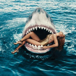 Rihanna Swimming With Sharks For Harper's Bazaar March 2015