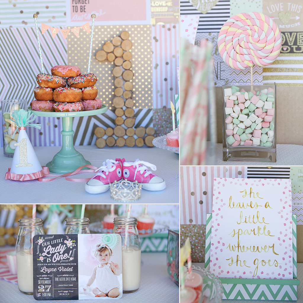 First birthday party ideas for girls popsugar moms for 1st birthday decoration images