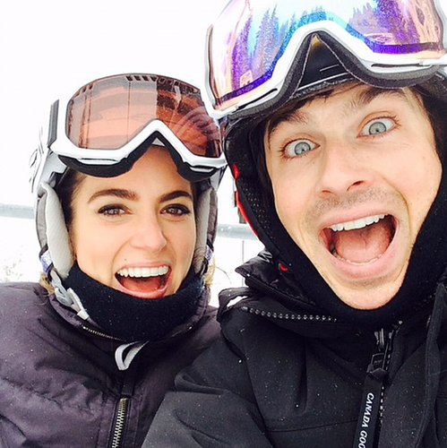 Nikki Reed and her fiancé, Ian Somerhalder, stay fit by hitting the slopes.