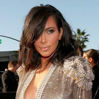 Kim Kardashian's New Lob Dominated on the Grammys Red Carpet