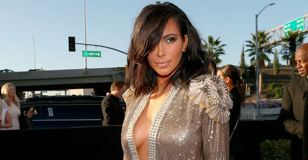 Poll: Did Kim Kardashian Wear a Sparkly Bathrobe to the Grammys?