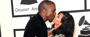 Kanye Grabbed a Handful of Kim's Butt at the Grammys