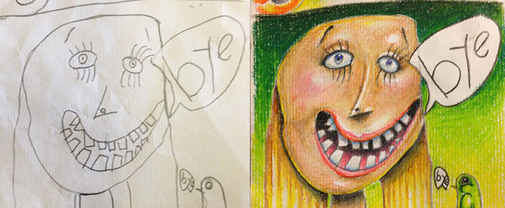 See How 1 Father Turns His Children's Sketches Into Jaw-Dropping Works of Art