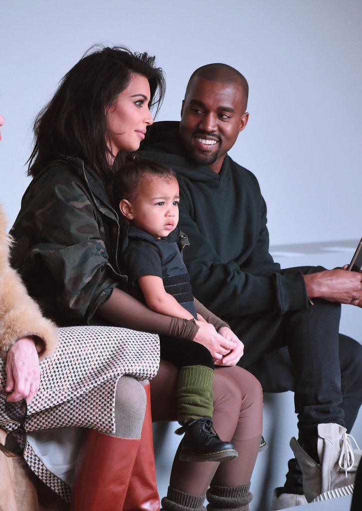 Kim Kardashian And North West At Kanye West Fashion Show Popsugar Celebrity