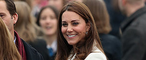 The Duchess of Cambridge Shows Off Her Baby Bump With a Big Smile