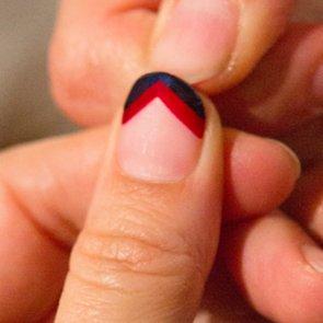 Chevron Nail Art How To Rebecca Minkoff