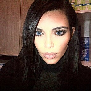 Kim Kardashian and Kanye West With Blue Contact Lenses