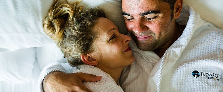 Newlyweds Get Into Bed With Their Photographer For Morning-After Photo Shoot