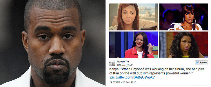 "18 Priceless Reactions to Kanye Saying Beyoncé Has ""Pictures of Kim on the Wall"""