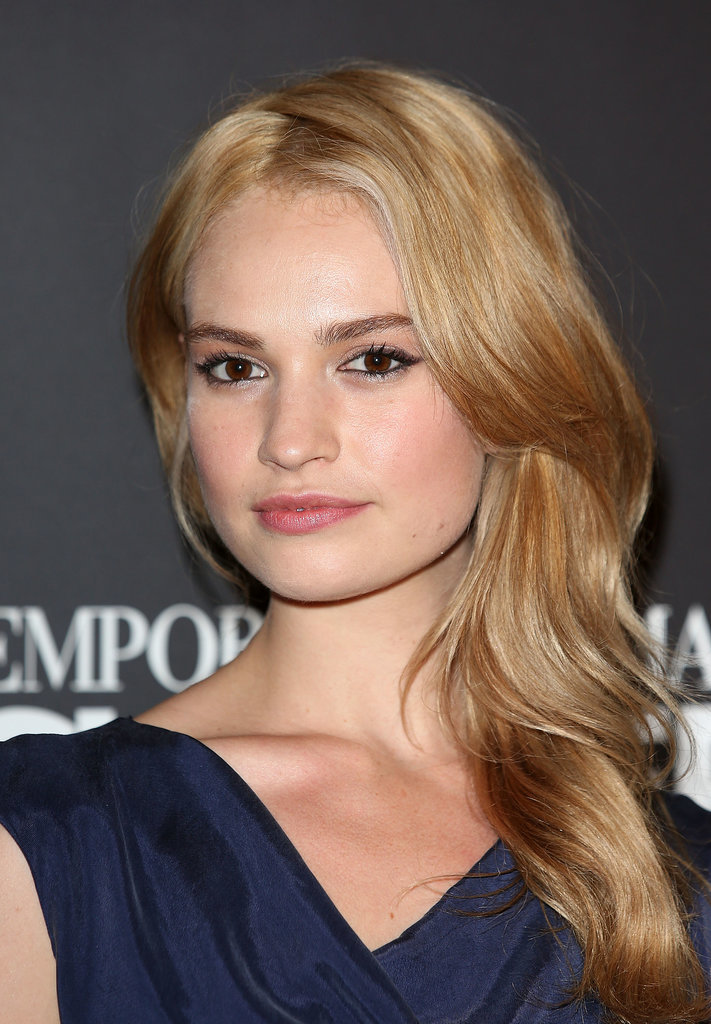 Lily James Hair And Makeup Pictures Popsugar Beauty