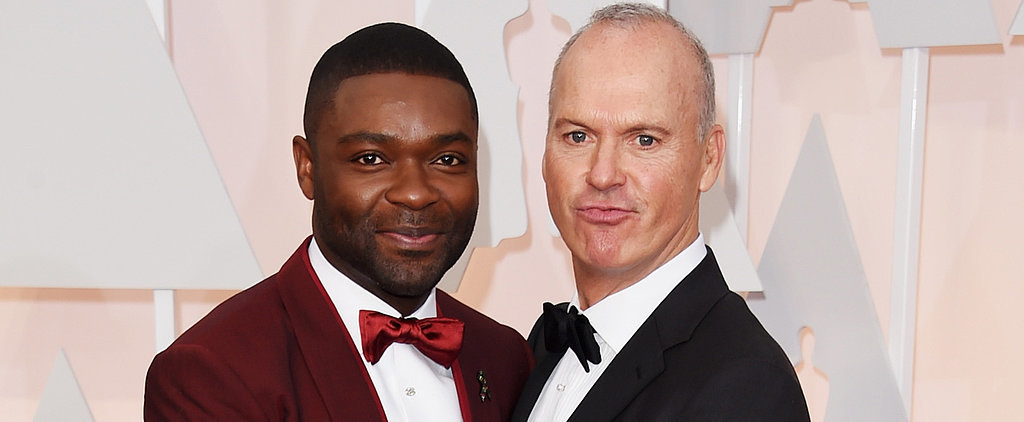David Oyelowo and Michael Keaton Had a Full-On Oscars Bromance