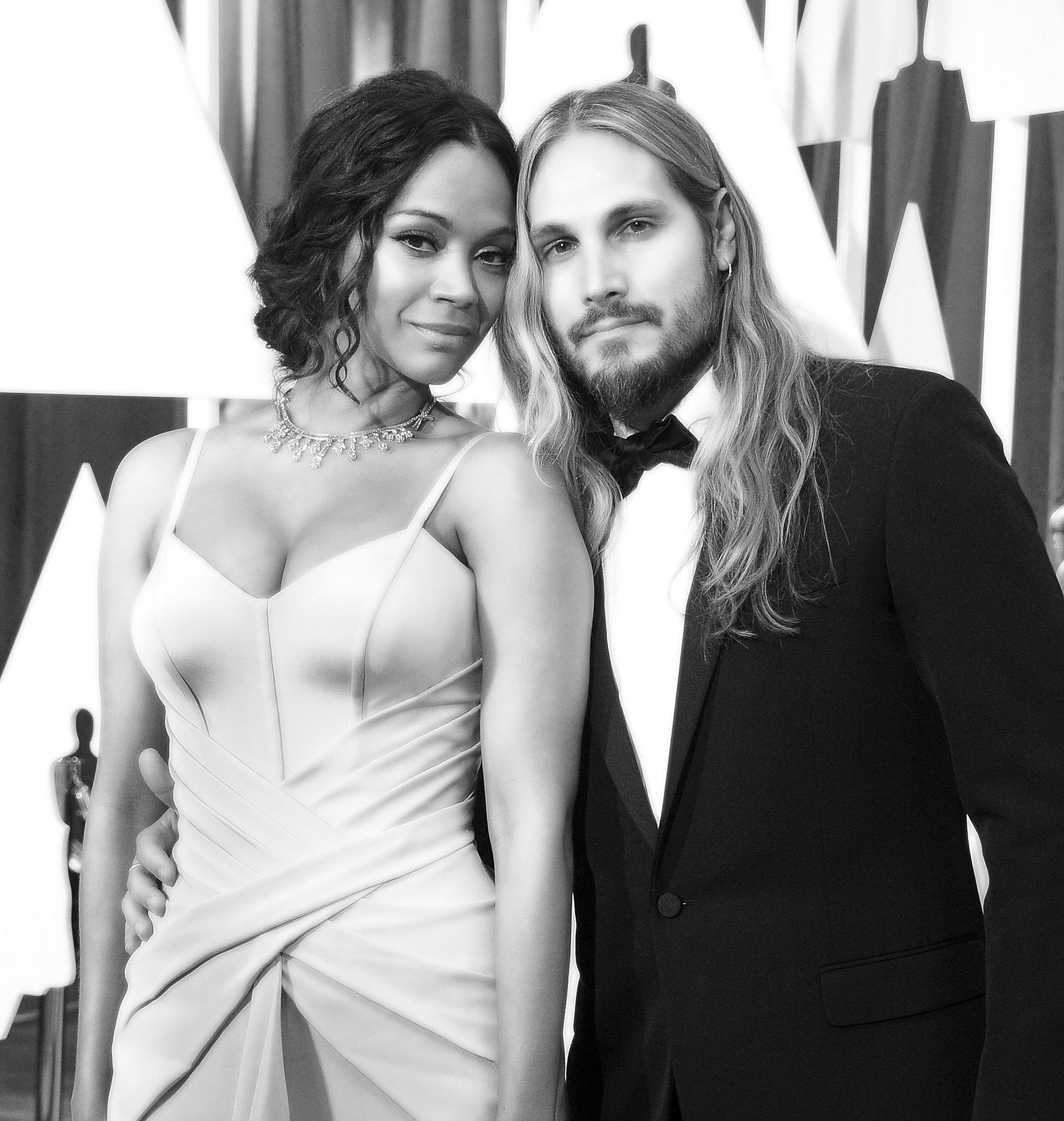 Zoe Saldana and Marco Perego   Stunning Oscars Pictures