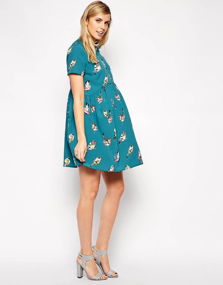 Asos Rainbow Bird Shirtdress