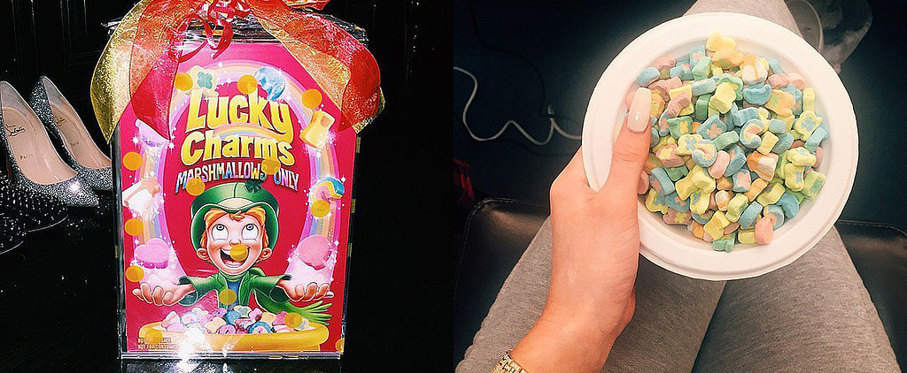 Kylie Jenner Got a Special Box of Lucky Charms With Marshmallows Only — We're Jealous