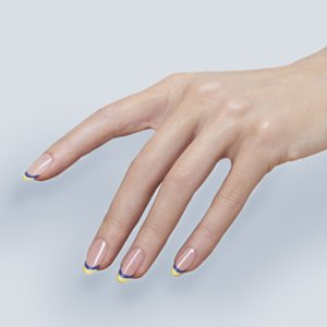 Christian Louboutin Coloured Tips French Manicure