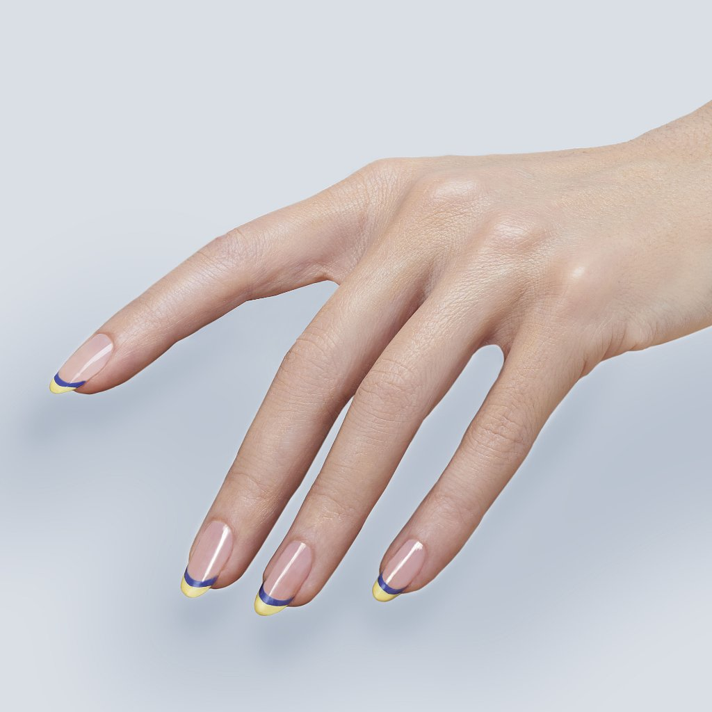 Christian Louboutin Coloured Tips French Manicure | POPSUGAR ...