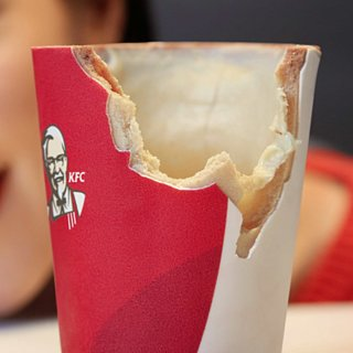 KFC's Edible Coffee Cup