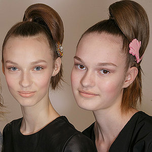 Prada Fall 2015 Hair and Makeup