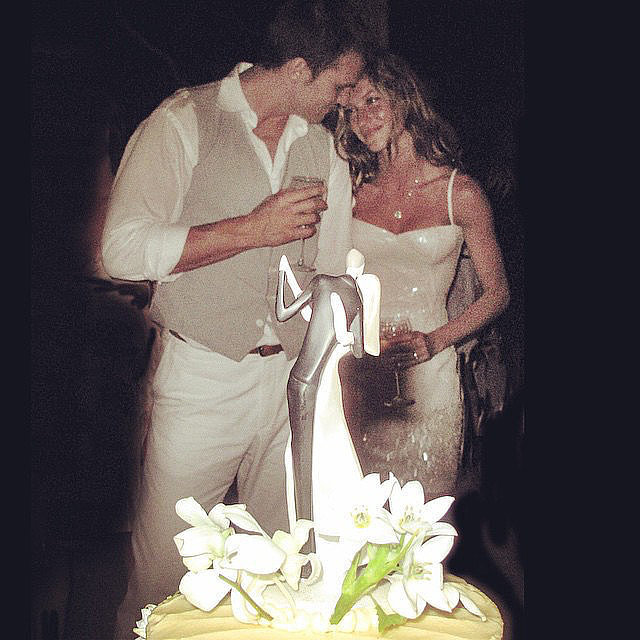 Even on her wedding day, Gisele skipped a traditional dress for something sexier.