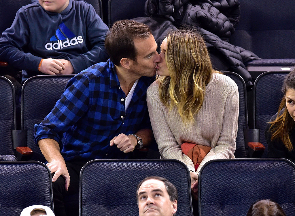 Will Arnett shared a smooch with Arielle Vandenberg at the NY Rangers game on Thursday.