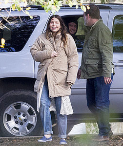 Justin Timberlake Visits Pregnant Jessica Biel on Set of Her New Film The Devil and the Deep Blue Sea: Photos