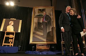Bill Clinton's National Portrait Includes A Spiteful Lewinsky Reference