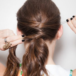 How to Do a Criss-Cross Ponytail From Pinterest