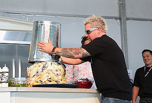 Guy Fieri Made Nachos in a Trash Can Because He's Guy Fieri