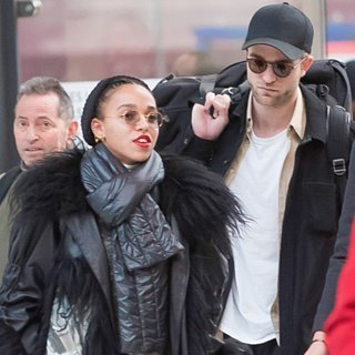 Robert Pattinson and FKA Twigs Arriving in Pa