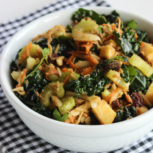 Kale, Almond, and Shredded Veggie Salad