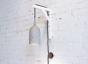 DIY: Concrete Pendant Lamps from Soda Bottle Molds
