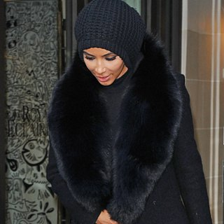 Kim Kardashian's Coat at Paris Fashion Week