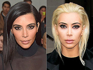 Blonde Bombshell! Kim Kardashian Debuts Platinum Hair at Paris Fashion Week