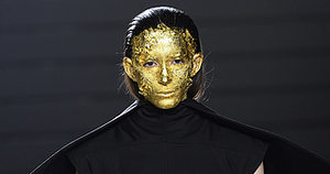 Rick Owens Totally Covered His Models' Faces in Gold Leaf