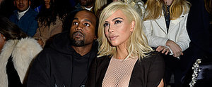 Blonde Kim Kardashian Cuddles Up With Kanye in the Front Row at Fashion Week