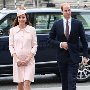 Kate Middleton Pregnant in Pink Coat For Commonwealth Day