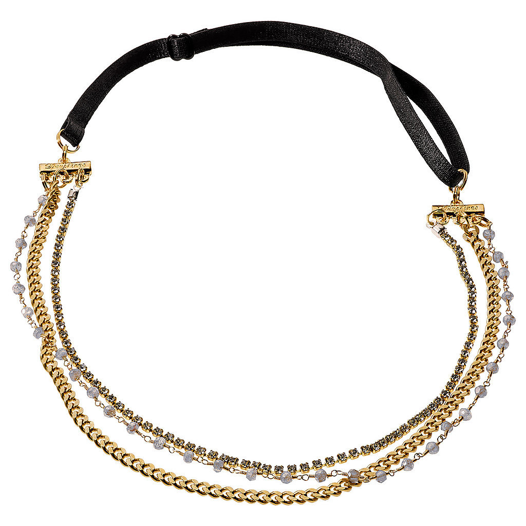 A pretty headband is something that all your bridesmaids will enjoy, and one with delicate labradorite stones like this one from Dauphines of New York ($40) is decidedly decadent.