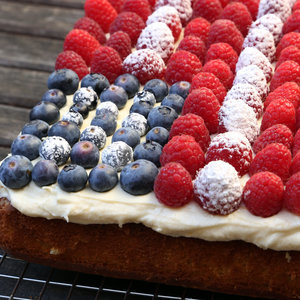 Easy Flag Cake Recipe